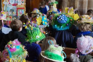 Easter bonnet parade at Grasby All Saints Primary School EMN-190504-212347001
