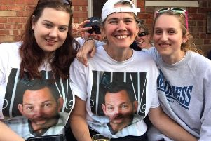 Andy's wife and daughters are leading the fundraising campaign.