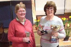 Trophy winners Kate Roberts and Dawn Brookes EMN-190404-163742001