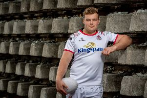 Ulster prop Eric O'Sullivan at Kingspan's Ulster Rugby media event in Dublin stadium. Kingspan delivers high efficiency, low carbon building solutions and is the naming rights partner and front of jersey sponsor of Ulster Rugby.