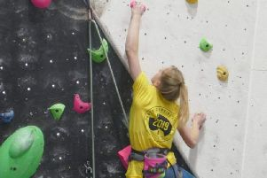 Erin Berry on her way up...