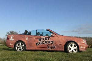 Carl Baldry's 'rust bucket'. NNL-190520-154536005