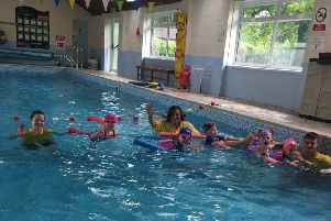 Youngsters enjoy a lesson at Wragby Swimming Pool EMN-190306-111629001
