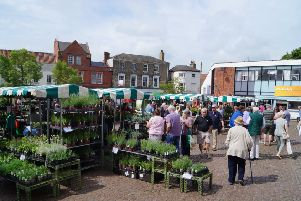 Event in Market Rasen's market place