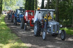 Wolds Tractor Run for Marie Curie.