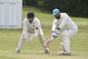 Mohammed Imran batting for Werrington against Stamford Town in Rutland Division Two. Photo: David Lowndes.
