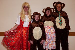 Some of the cast of last year's pantomime - Goldilocks and the Three Bears EMN-191207-075445001