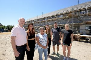 Pictured last year Kevin Byrne, left, and the team that were hoping the the building could be a gym. Photo: Kate Shemilt. ks180350-3
