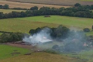 The extent of fire damage at the Middle Rasen barn. Photo by Max Robinson. EMN-190409-100021001