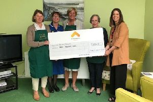 Wolds Fundraisers has donated �3.000 to St Andrew's Hospice at Grimsby. Pictured are Elizabeth Raybone, Jo Cleland, Sue Sutcliffe, Anne Brearley and Becky Darnell. EMN-190829-172747001