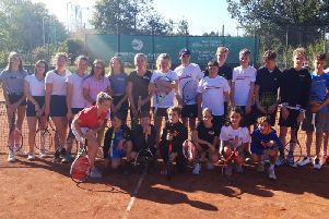 Group from the Kenilworth Tennis Club that recently went to Eppstein, Germany, as part of the twinned town relationship Eppstein and Kenilworth share.