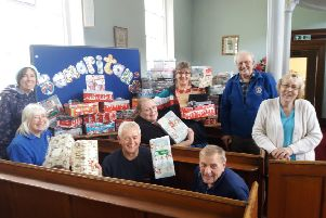 Wrap and pack event at Market Rasen Methodist Church EMN-190610-215157001