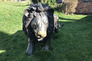 Bronze lions were stolen from Walesby Hill yesterday (Tuesday). EMN-191030-150848001