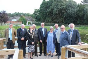 From left: Coun Kit Read, Coun Lewis Strange, West Lindsey District Council Vice Chairman Coun Angela Lawrence, Coun Syd Howdin, Coun Steve Hudson, Helen Pitman, Coun Neil Hunton, Mr Joyce and Coun Owen Bierley EMN-191022-164001001