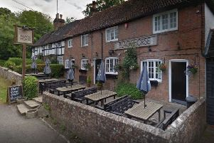 The Black Horse Inn is asking customers to clear up their horse's droppings. Photo courtesy of Google Street View