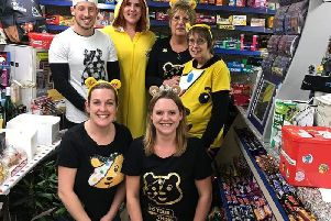 A photo from last year's fundraising at Great Barford Stores