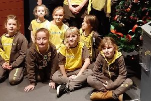 Members of 4th Melton Brownies at an activity night at Melton Carnegie Museum EMN-191212-134929001