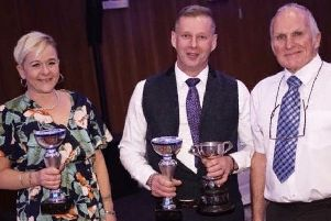 Jen and Giles Stainton with silverware after a consistent season EMN-200701-110530002