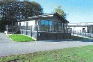The new holiday lodge at Wold View Fisheries. EMN-200120-161751001