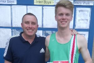 Kieran Gillespie with dad and coach Jim