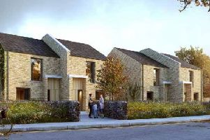 An artist's impression of what some of the homes could look like.