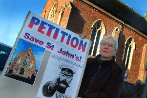 Frances Levett who has joined forces with other worshippers in a campaign to save St John the Baptist Roman Catholic Church in Melton from closure EMN-180828-122122001