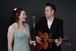 Lizzy Rushby as June Carter and Richard Day as Johnny Cash PHOTO: Paul Hurst