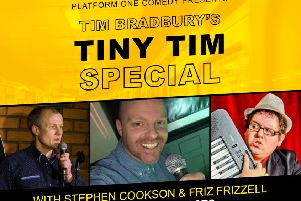 Platform One Comedy Club presents Tim Bradbury's Tiny Tim Special PHOTO: Supplied