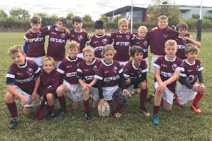 Melton RFC Under 9s made their debut in full-contact rugby at Market Harborough EMN-180310-093904002