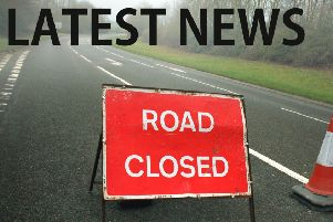 The road was closed following a collision EMN-180511-120322001