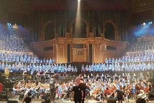 Schoolchildren from Melton, Gaddesby and Syston perform at a youth proms concert at the Royal Albert Hall in London EMN-180911-101145001