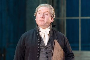Melton actor Adrian Scarborough in his role as Dr Willis in The Madness of George III at Nottingham Playhouse EMN-180312-115247001