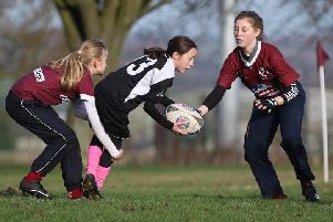 Launch day for Melton RFC's new girls' section. Picture: SportsDad EMN-181218-120939002