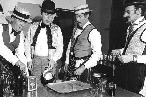 Even the bar staff dressed for the occasion at the Lions Old Time Music Hall
