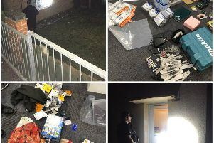 Images from a two-day police enforcement operation in Melton which led to the arrests of eight people and the recovery of many items of stolen property EMN-190115-172916001