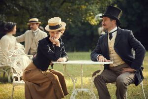 Keira Knightley as Sidonie-Gabrielle Colette and Dominic West as Henry Gauthier-Villars aka Willy PHOTO: PA Photo/Lionsgate Films
