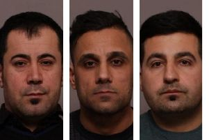 The three men convicted of five counts of murder and conspiring to commit insurance fraud following an explosion at a shop and apartment in Leicester, from left, Arkan Ali, Aram Kurd and Hawkar Hassan EMN-190118-115415001