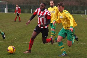 Ross Dunlop scored his third goal for Holwell at Bugbrooke EMN-190129-095051002