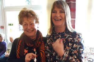 Silverspoon winner Sue Bennett with out-going lady captain Sandie Normanton EMN-190129-123304002