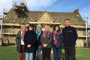The team at Sulgrave Manor, which is currently being renovated ahead of the 2019 season NNL-190102-121557001