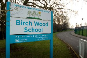 The sign outside Birch Wood Area Special School at Melton EMN-191202-122402001