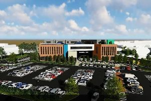 An image from a video showing how the Medical Hub might look on site. (McGurran Associates Limited)