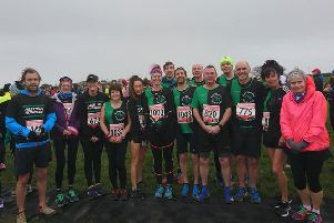 The Hastings Runners contingent at the Eastbourne Half Marathon on Sunday