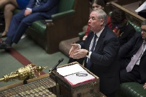 Attorney general Geoffrey Cox QC MP explains his legal advice to MPs yesterday