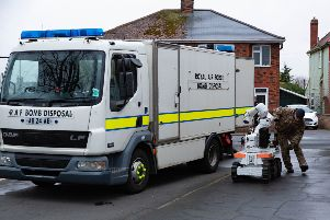 RAF Bomb disposal called after reports of a suspicious package.. New Road, Peterborough Saturday 16 March 2019.  Picture by Terry Harris. THA