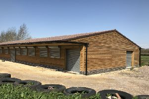 The exterior of the new Melton Scout hut building at Holwell Pastures EMN-190318-121006001
