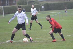Action from the East Sussex League Division One match between Bexhill United II and Herstmonceux at The Polegrove. Pictures by Simon Newstead