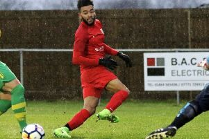 Former Lincoln City striker Nathan Arnold fashioned Town's best chances, but the Nomads resolute defence once again denied Melton EMN-190304-101944002