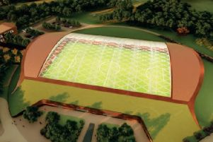 An artist's impression of the indoor pitch at Leicester City FC's new training ground near Seagrave EMN-190304-171603001