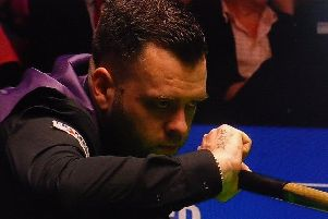 Bexhill snooker star Jimmy Robertson in action at last year's Betfred World Championship. Eurosport